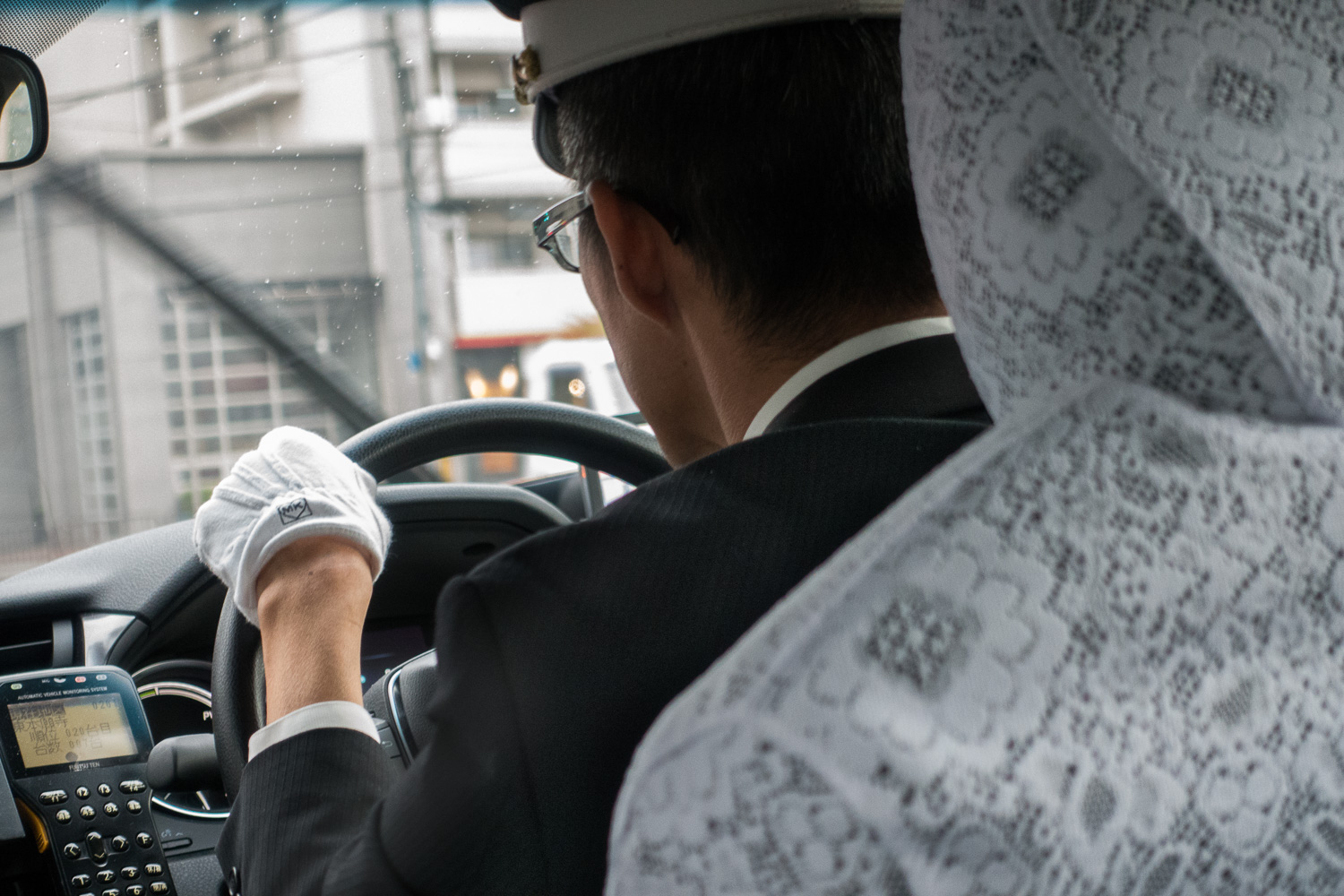 Taxi gloves and suit