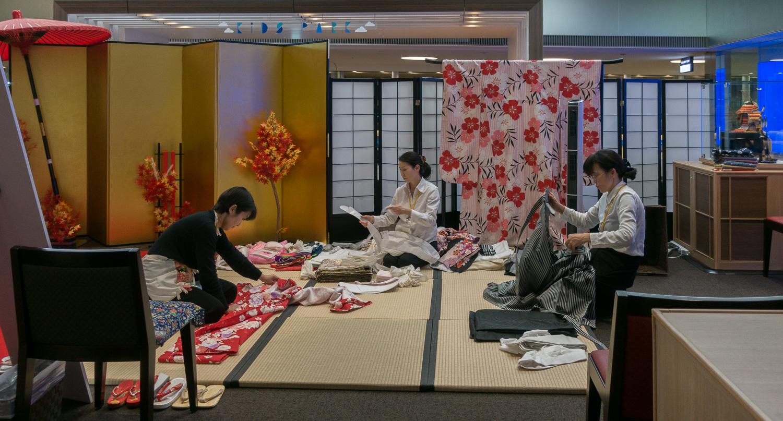 Custom fit kimono- airport