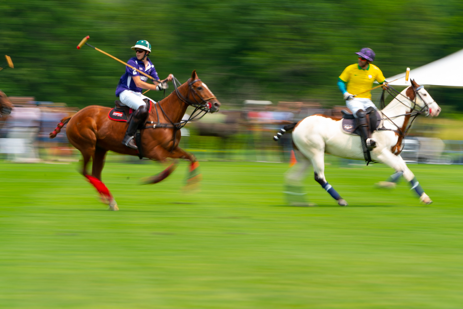 Polo is a contact sport., Polo is no longer a boys club. Women and men mix it up.at the mashomack polo club in pine plains.jpg