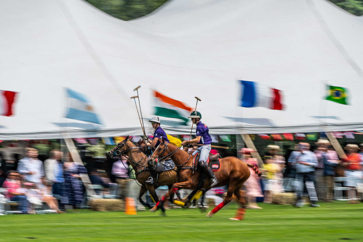 Action in front of the tent at the Mashomack polo club in pine plains, ny. blurs help define the speed of the game..jpg