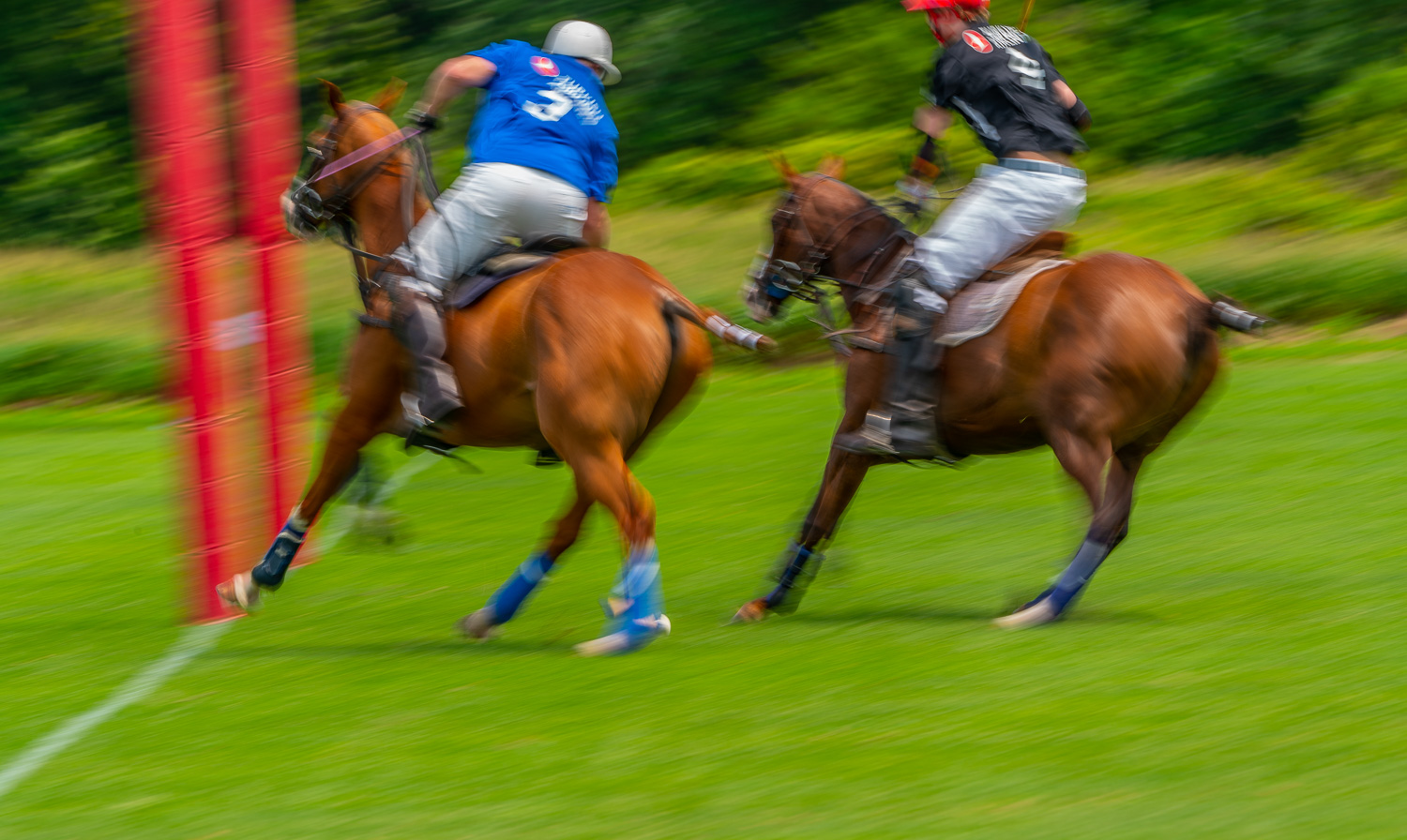 Defending the goal at the mashomack polo club in pine plains, ny.  Polo is a contact sport..jpg