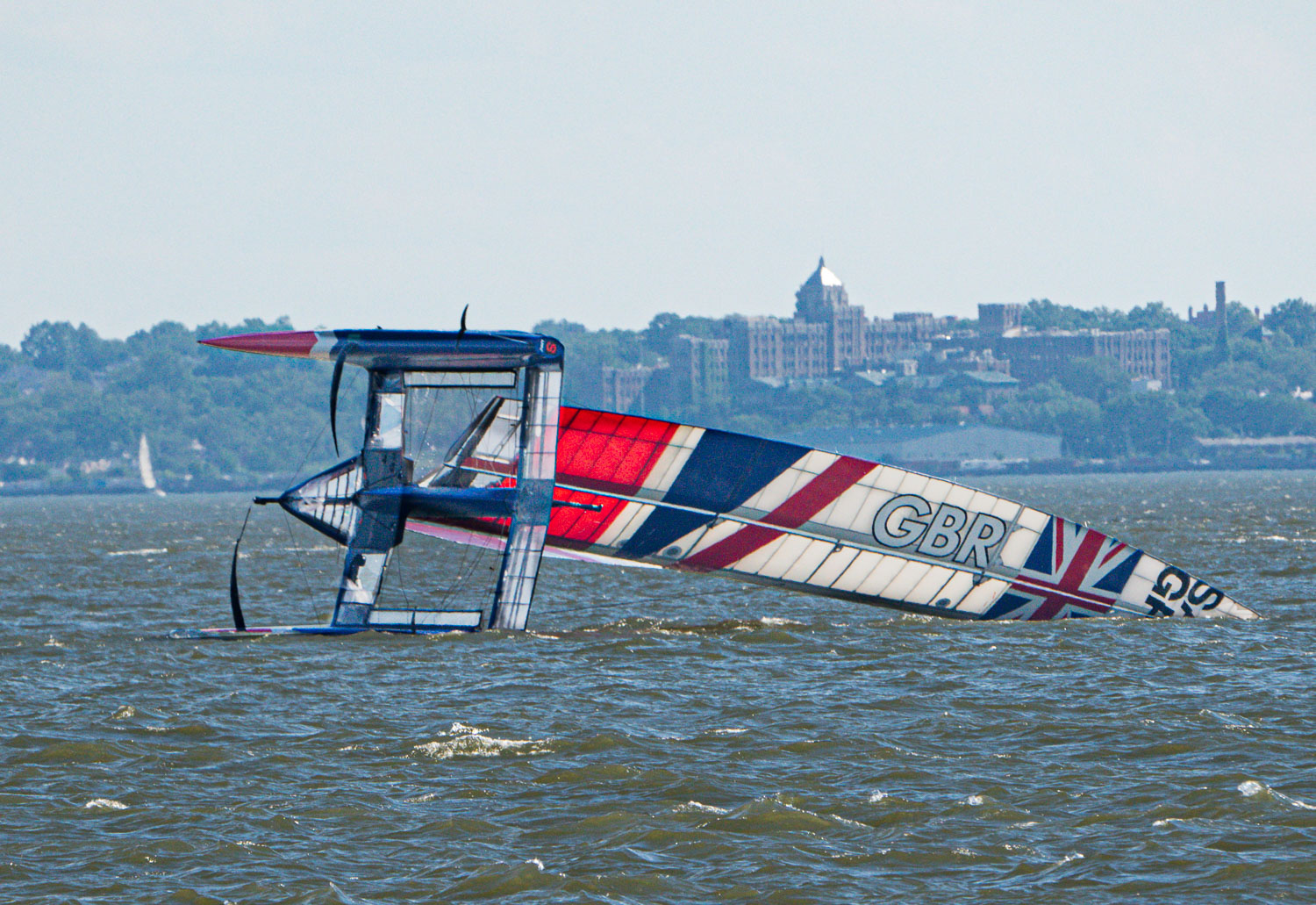 Great Britian capsizes in the Sail GP Race on the Hudson.jpg