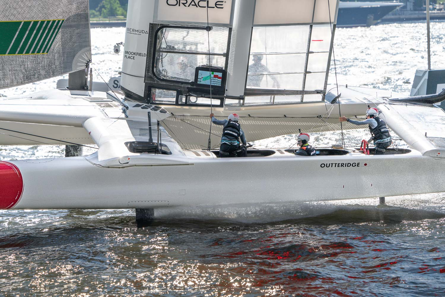 Japan racing in the Sail GP,  on the hudson.  One miniute flying the next almost capsizing..jpg