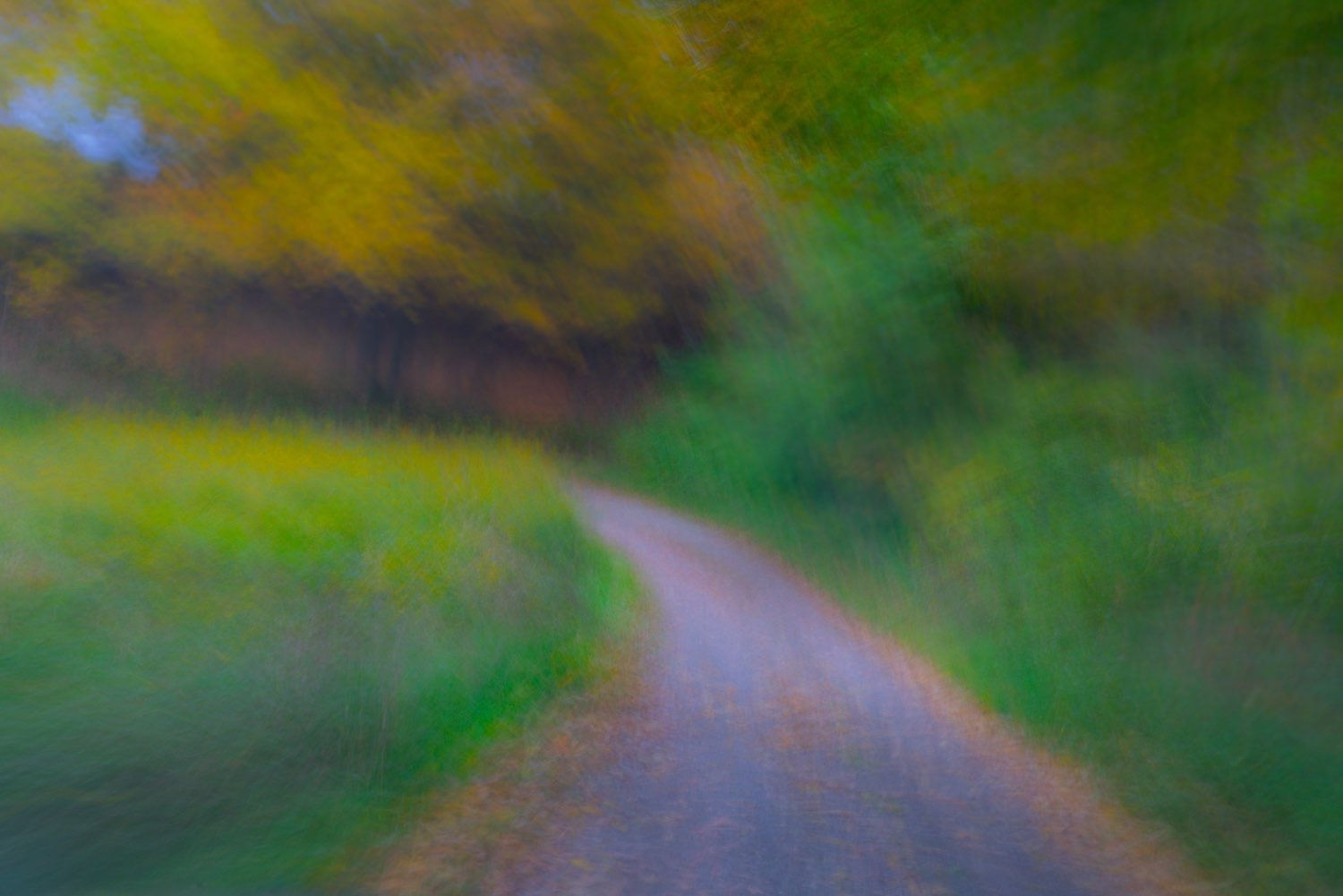 This painterly photograph of a country road in the autumn was created by johnstuartstudio The effect is similar to the Hudson Valley School of painters-compress.jpg