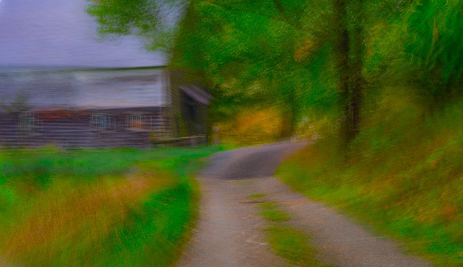 This painterly photograph of a country road in the autumn was created by johnstuartstudio The effect is similar toone of the  the Hudson Valley School of painters-compress.jpg