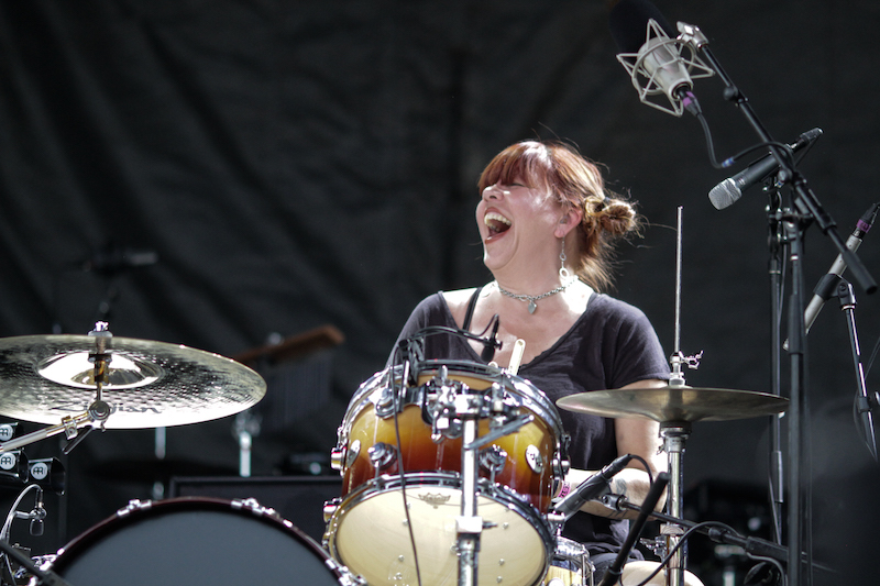 Babes in Toyland Lori Barbero drums Rock the Garden 2015 Minneapolis Seth McGaha Photographer