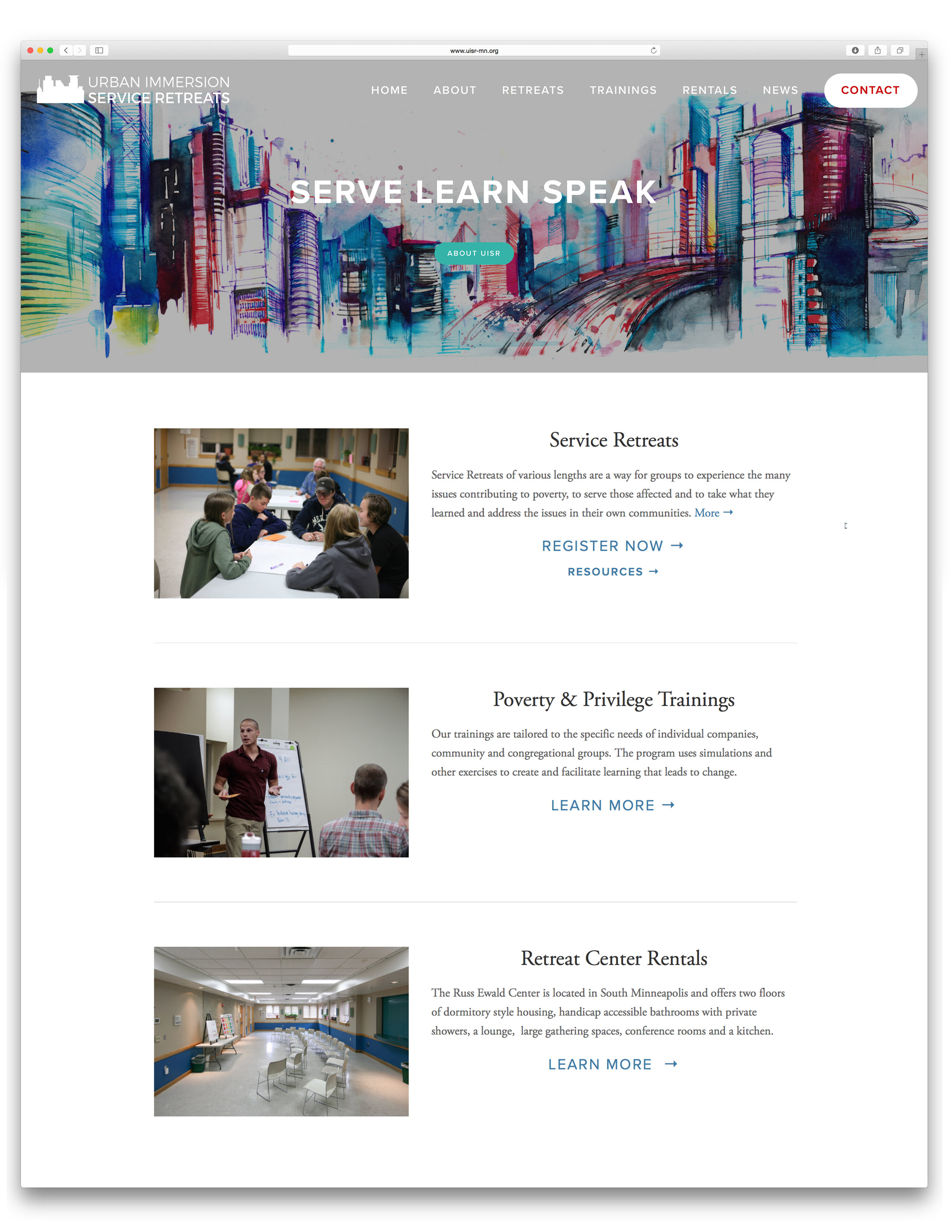 URBAN IMMERSION - Seth McGaha - Design, Website, Photography