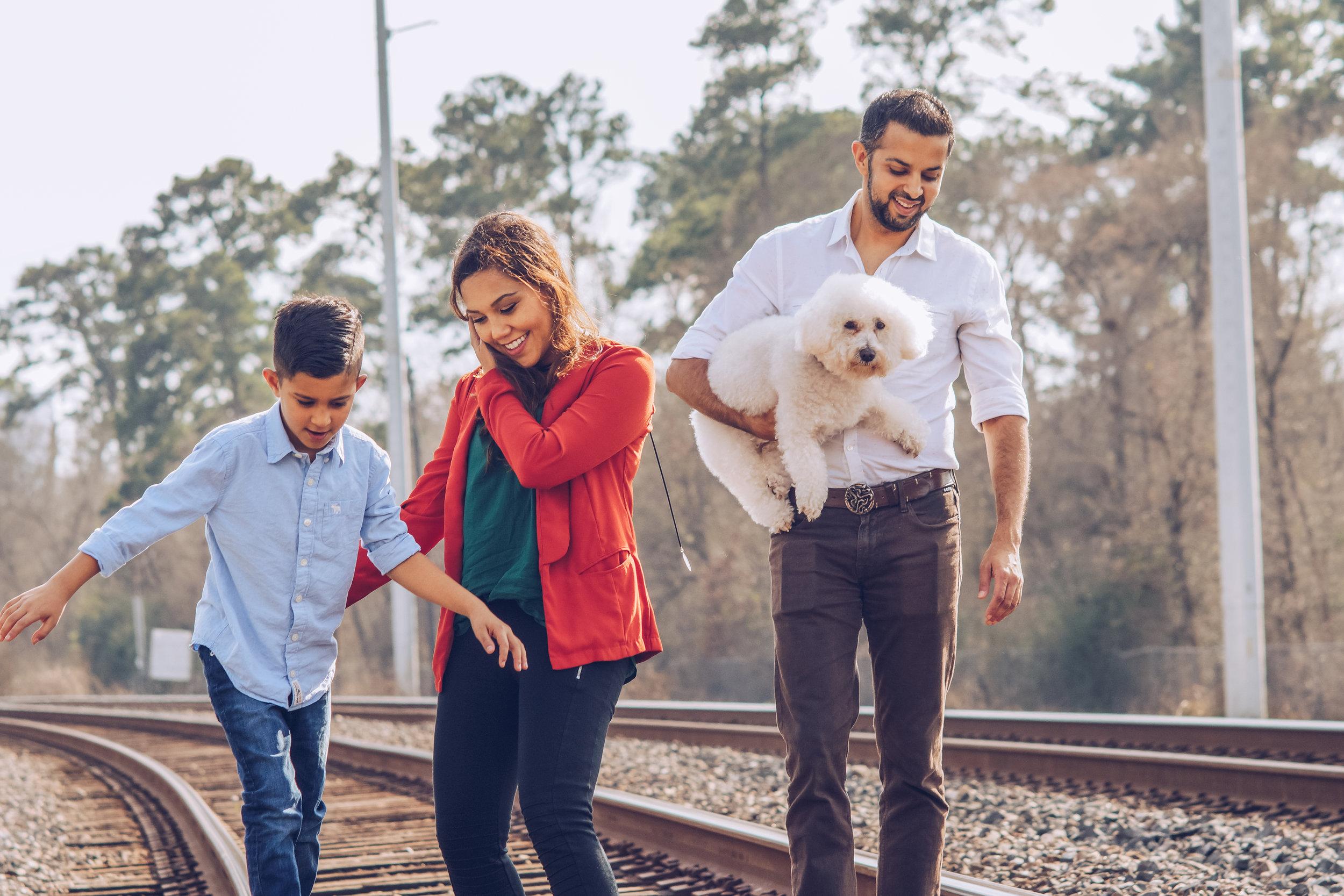 Muslim family at play