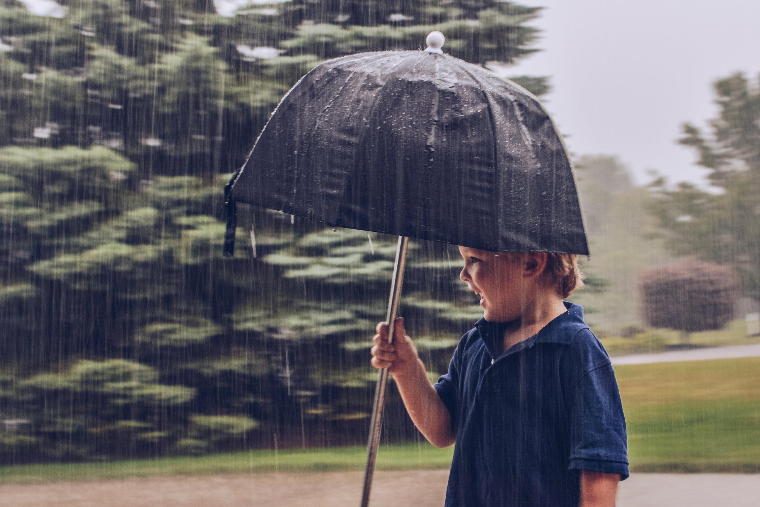 Taters enjoying the rain, too