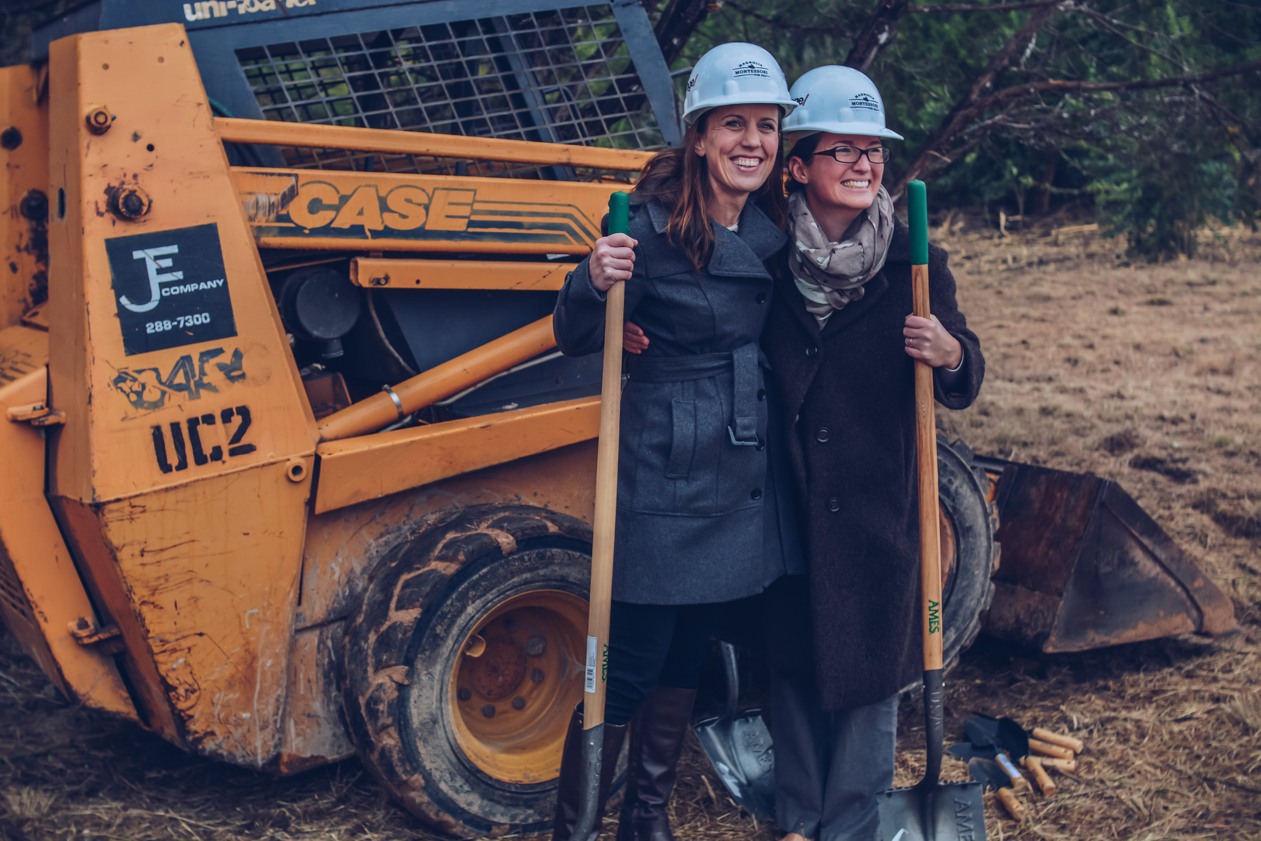 Sarah Kirby Tepera and Sara Cotner before the groundbreaking ceremony