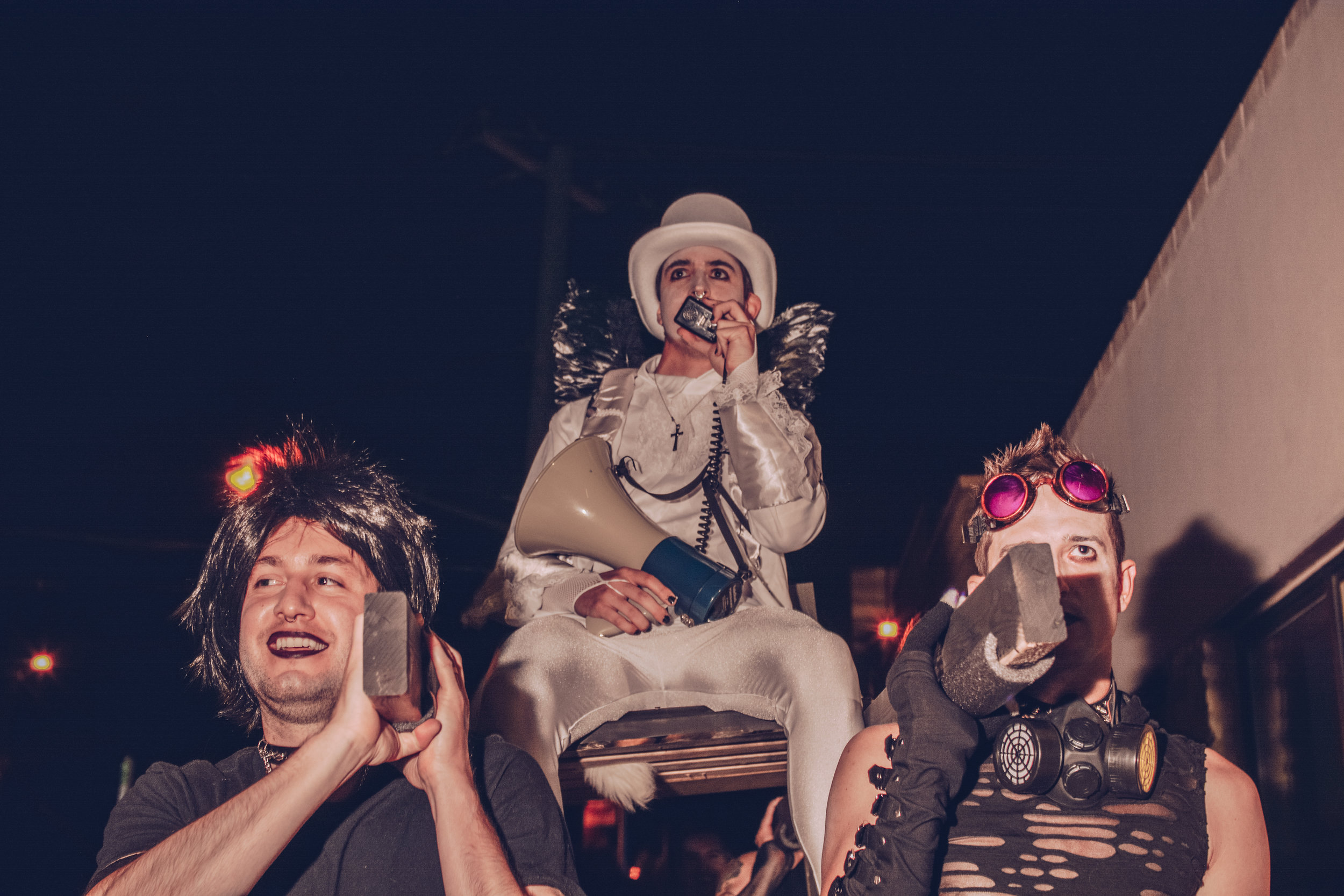 The evil groom riding atop the chariot of darkness
