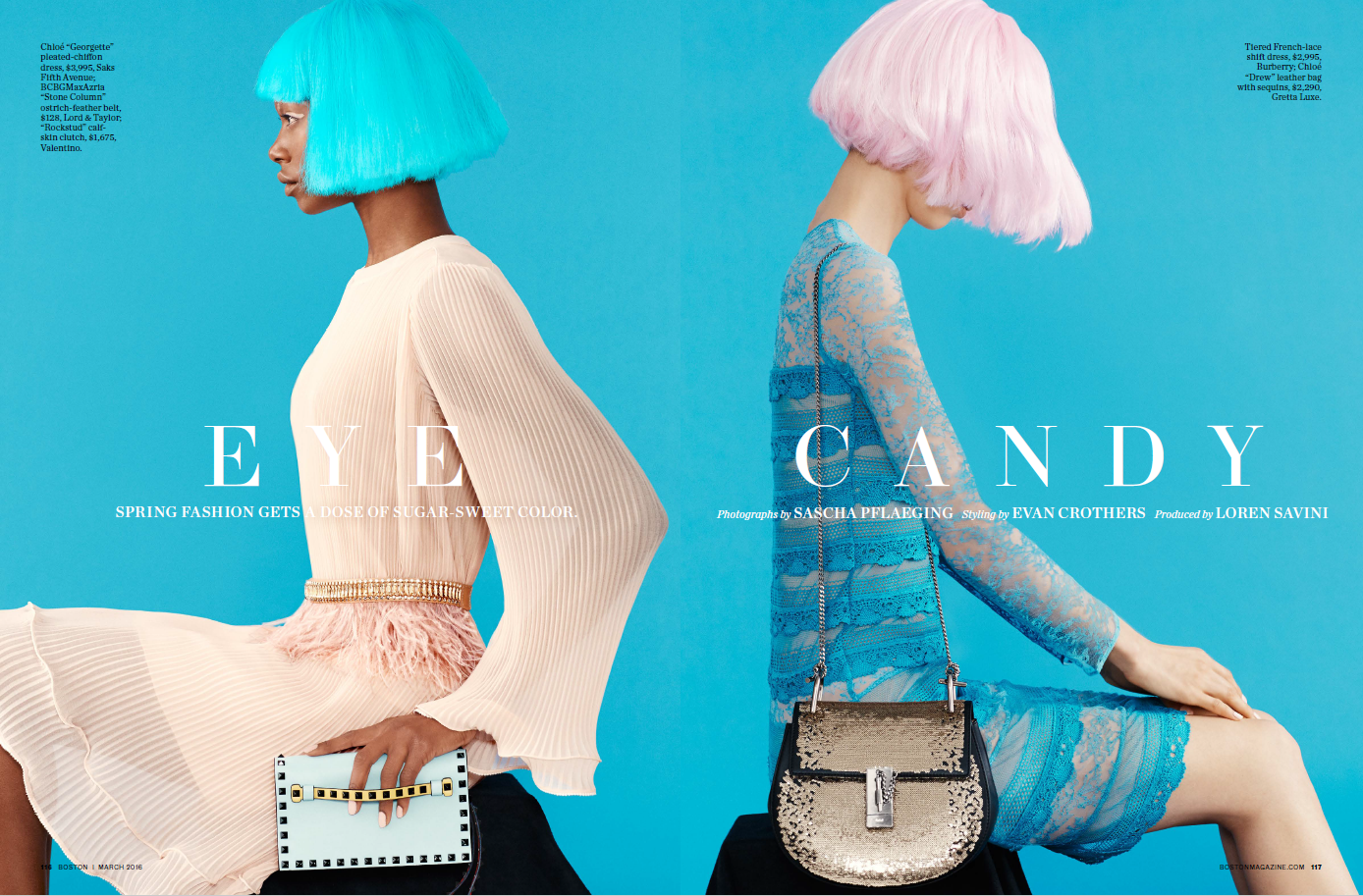 EYE CANDY    Spring Fashion 2016 (Boston Magazine)