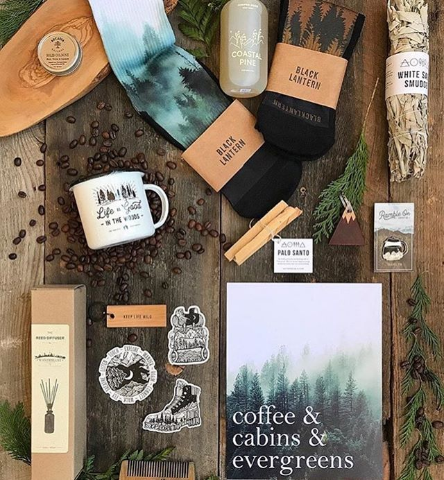This father's day, consider shopping at your favourite local indie store for unique gifts that dad will love 💙 if I was in Baker City, I'd definitely be stocking up at @madhabitboutique who took this flatlay featuring some of their nature inspired goods.