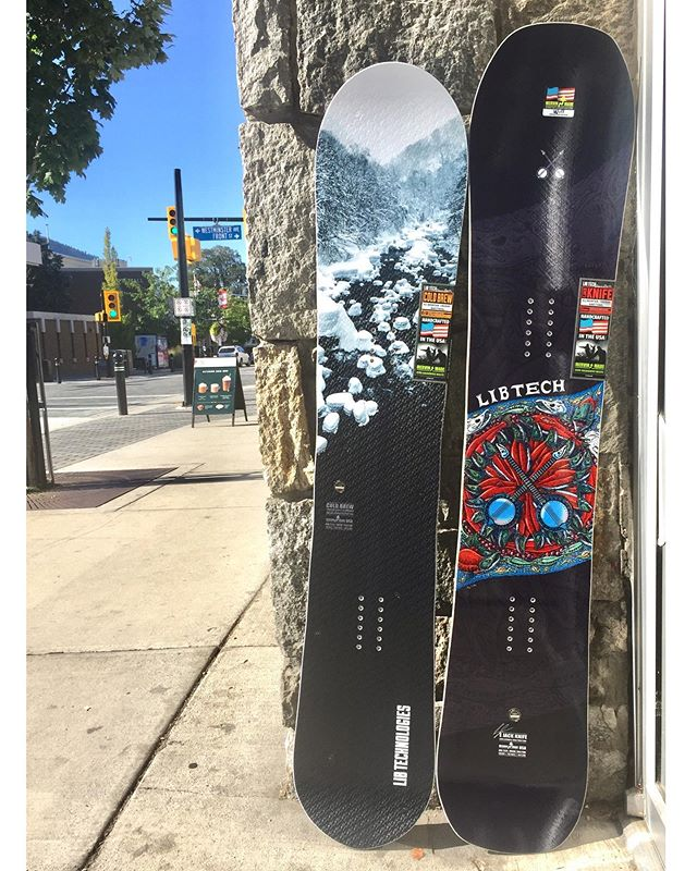 It has begun!!! 2020 snowboards are starting to show up 😍The new @libtechnologies showed up today and they're looking so good!!! The new EJACK Knife & the Cold Brew!!!