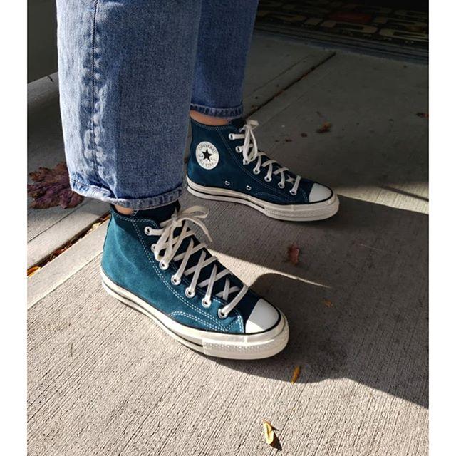 Chuck 70 hi looking so good on a shelf near you 👈 😍 • • • • • • • #pentagonboardshop #penticton #getinmycloset #sorrykirk #converse