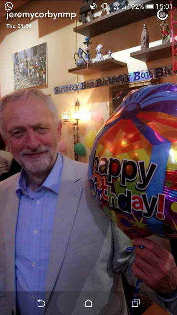 Jeremy Corbyn was the first political leader in the UK to get Snapchat. He may have done this due to his popularity amongst 18-24 year olds, where polls indicate he has an approval rating of +15 (compared to David Cameron's -16).