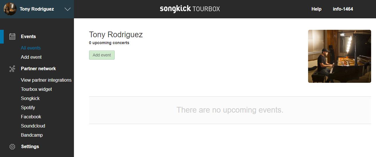 Songkick Tourbox