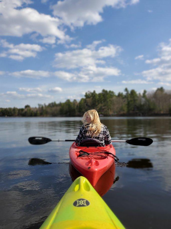 Beautiful afternoon of kayaking