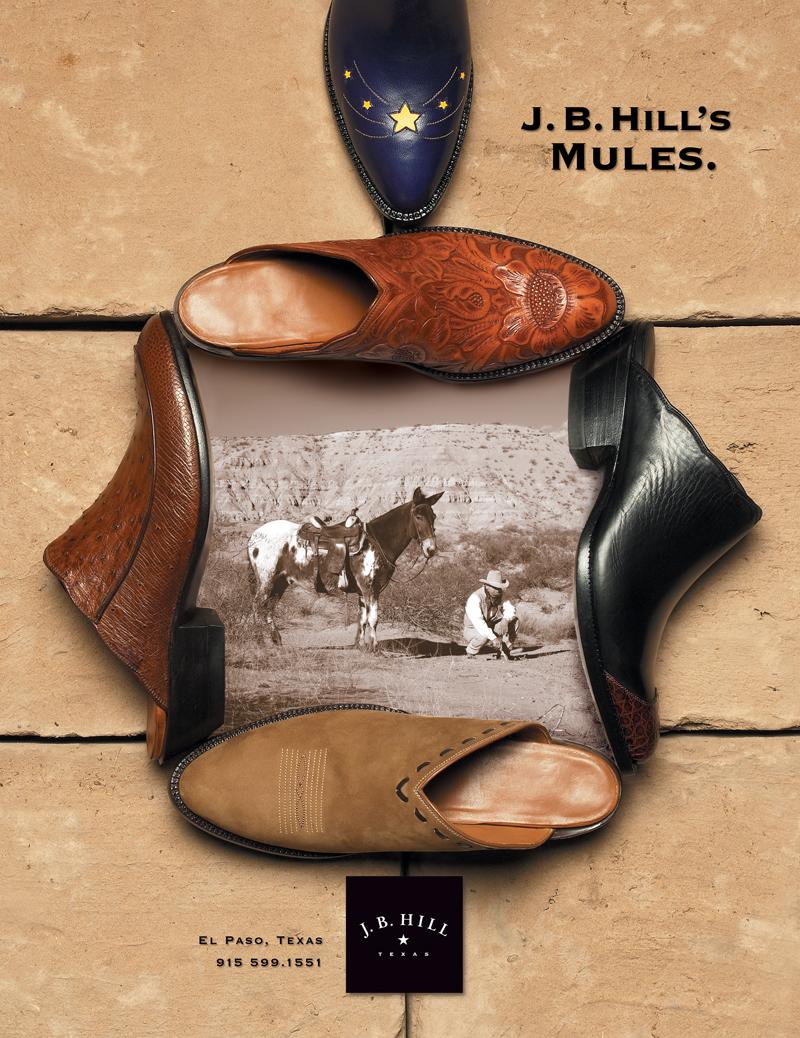 Same vibe, but showcasing women's mules.