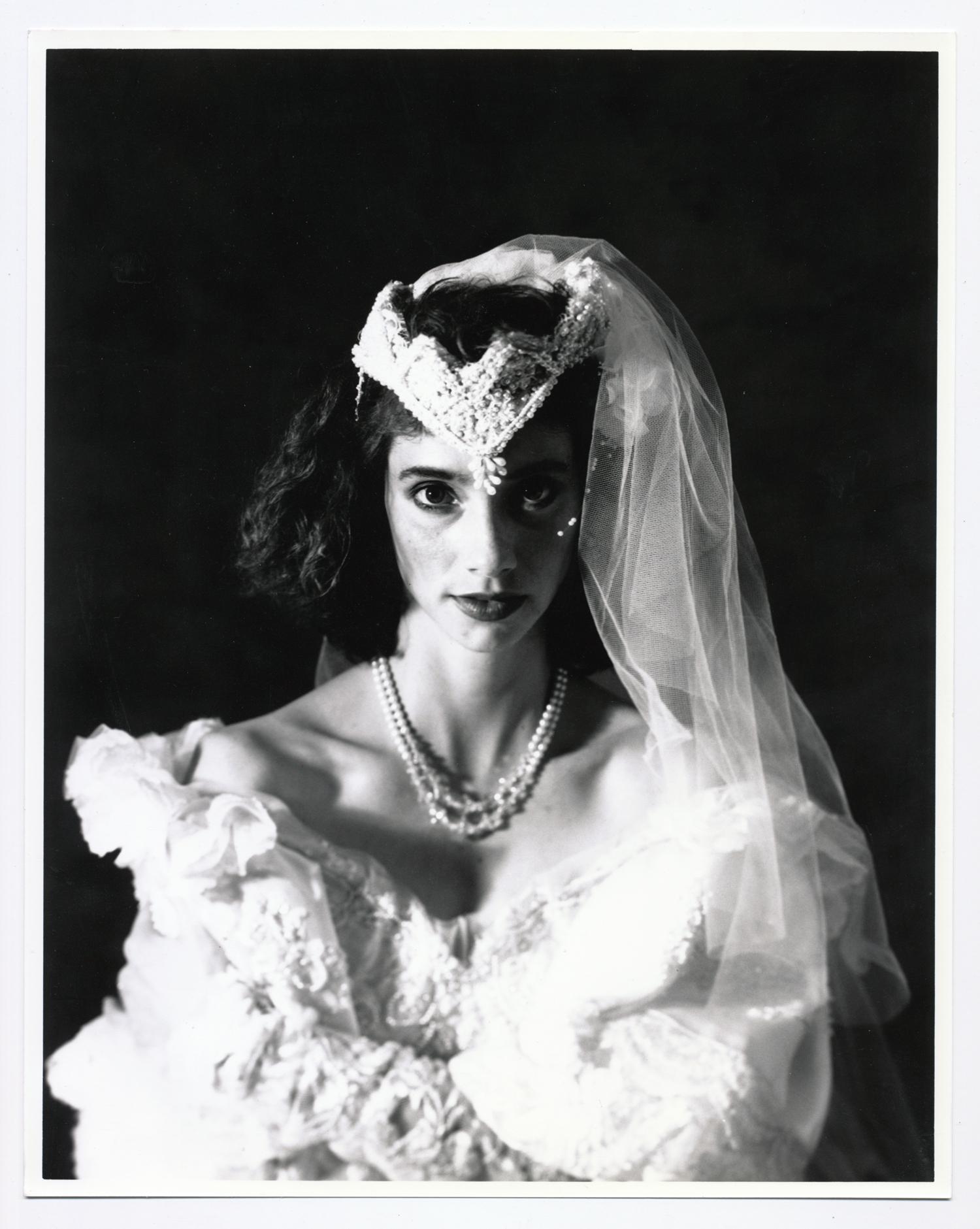 Teresa Wedding Series   4x5 silver print. © Jud Burgess 1989