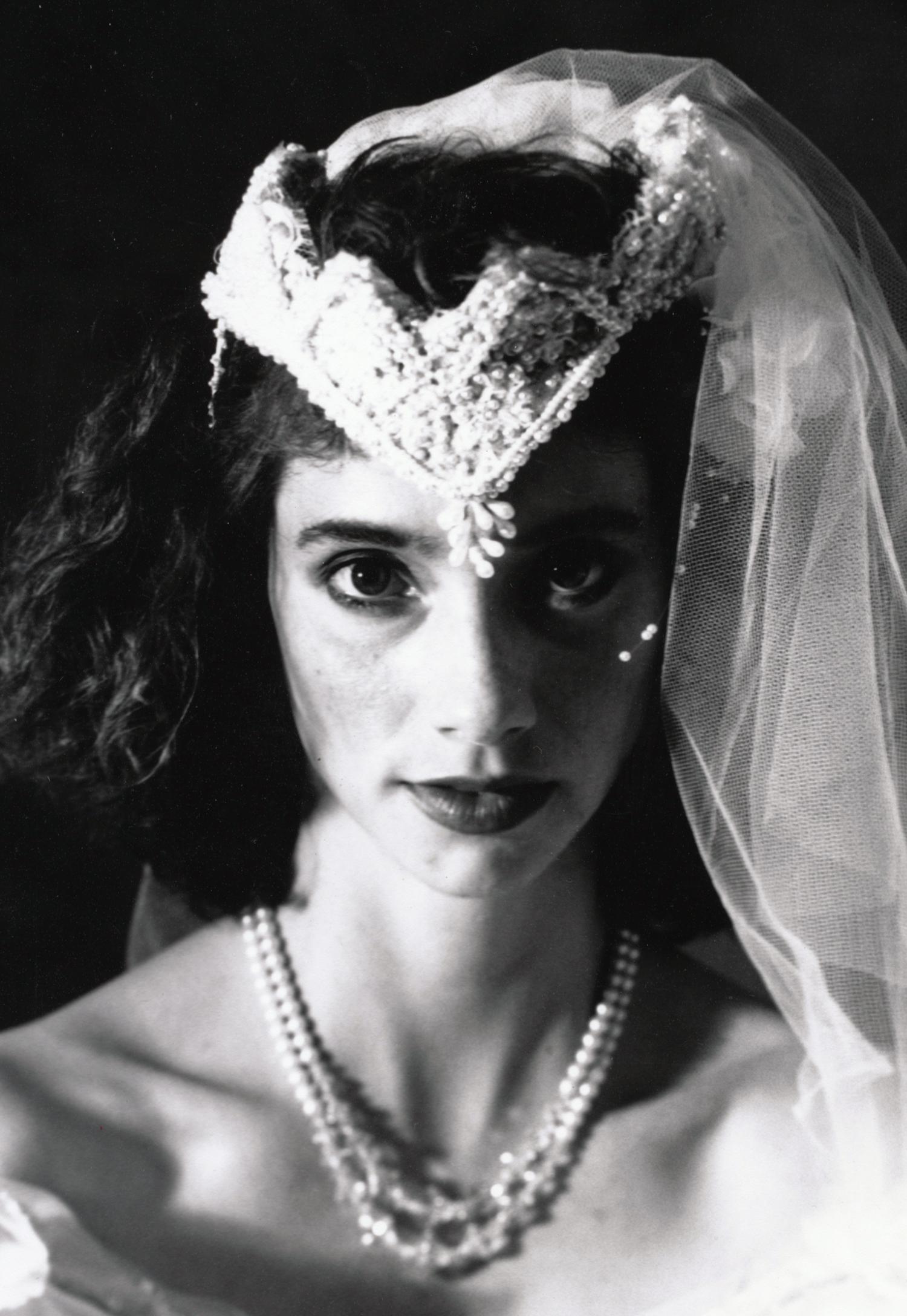 Teresa Wedding Series (detail)   4x5 silver print. © Jud Burgess 1989