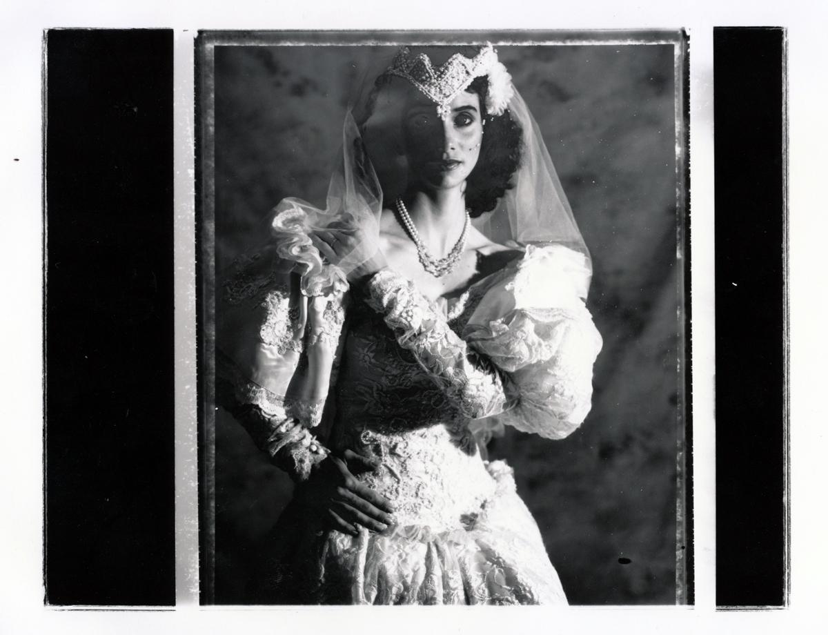Teresa Wedding Series   Contact print off 4x5 Polaroid test negative.© Jud Burgess 1989