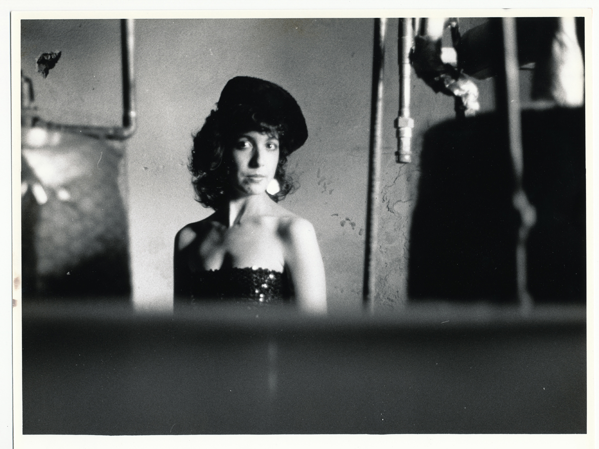 Laurie in Apartment Boiler Room 2   35mm silver print.  © Jud Burgess  1985