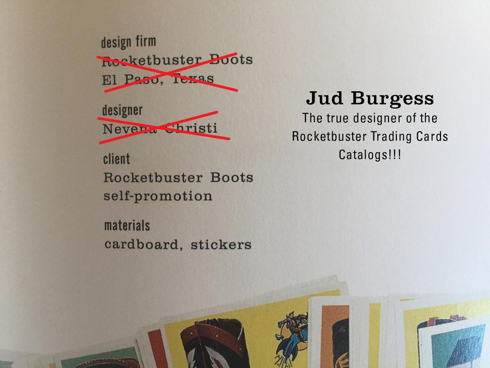 Rocketbuster trading cards real designer not Nevena Christi