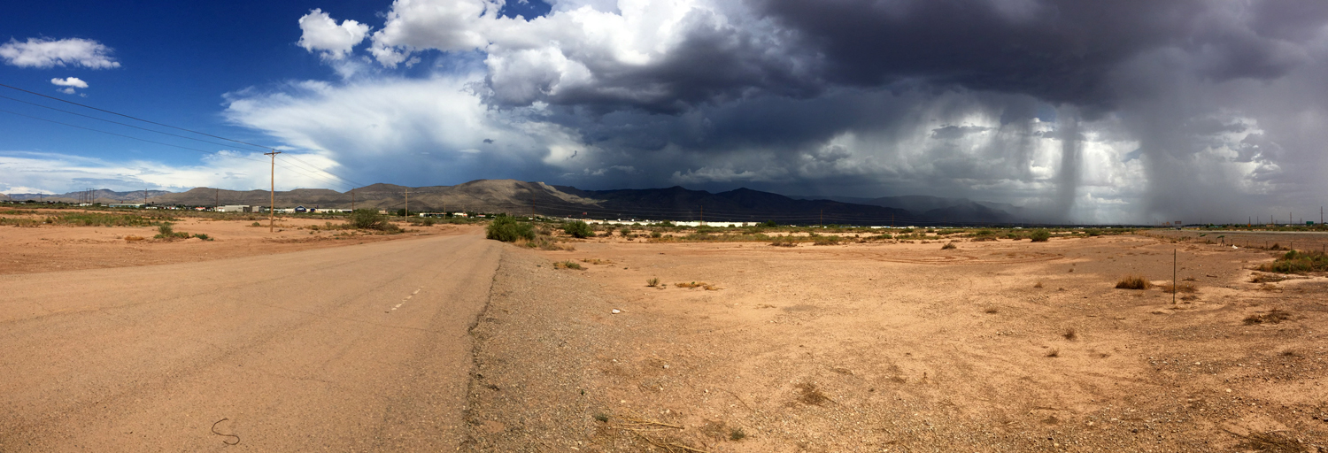 Blue skies and thunderstorms Alamogordo, New Mexico © Jud Burgess, August 7, 2016