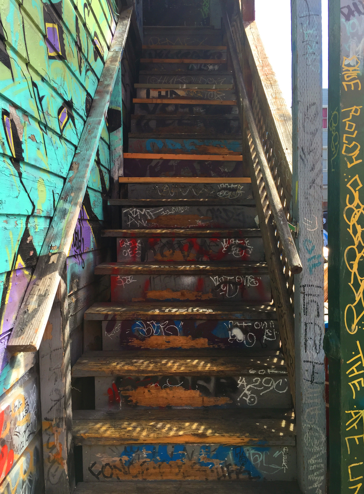 Stairway to 7 Haight-Ashbury, San Francisco  © Jud Burgess 2015