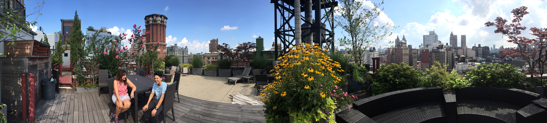Doralton Apartments Roof Patio, New York City, NY © Jud Burgess, August 20, 2016
