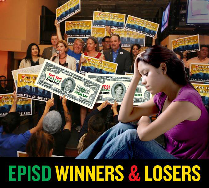 EPISD Bond Winners and Losers, Susie Byrd, Juan Cabrera and Dori Fenenbock