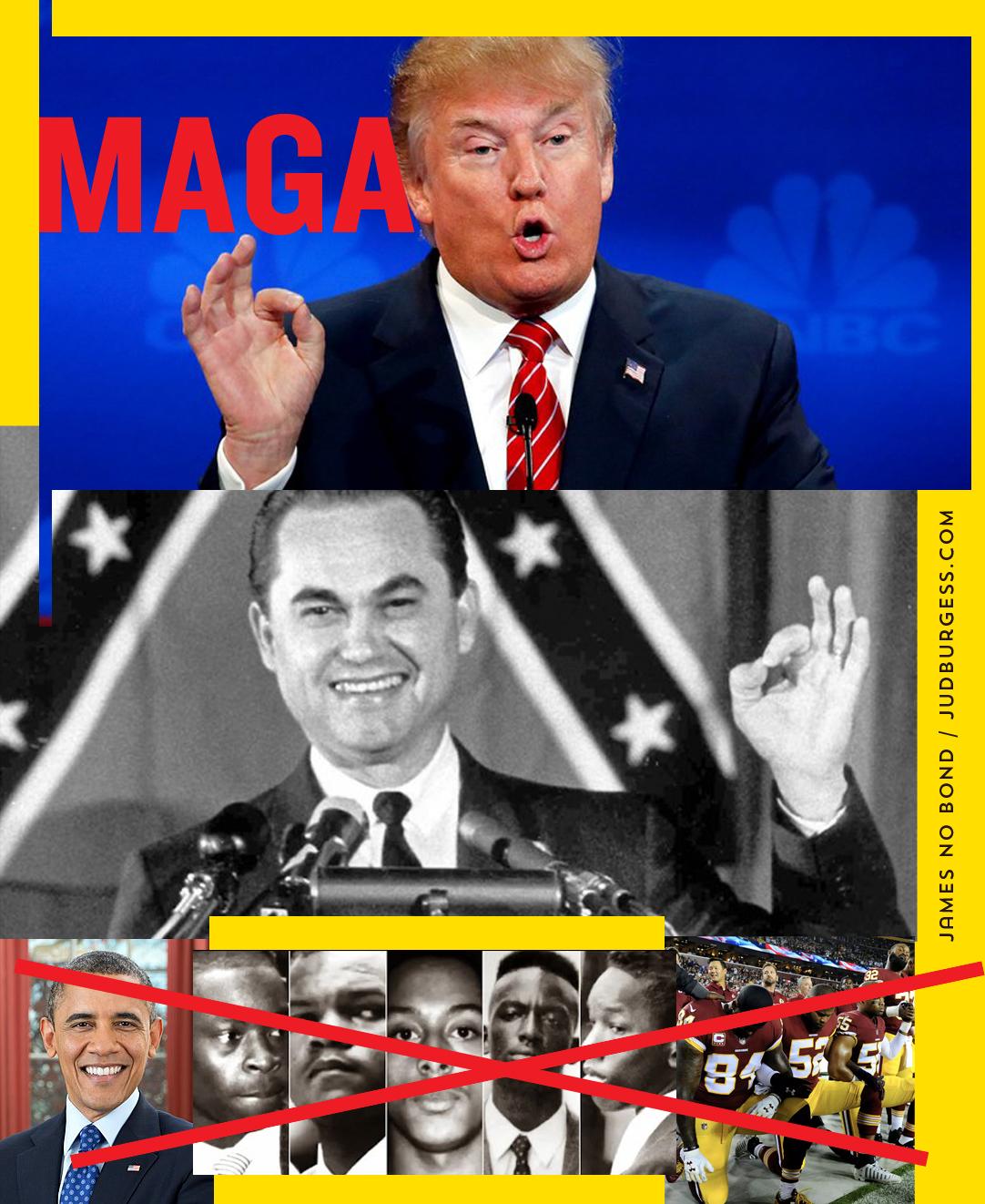 Racist George Wallace Trump © Jud Burgess