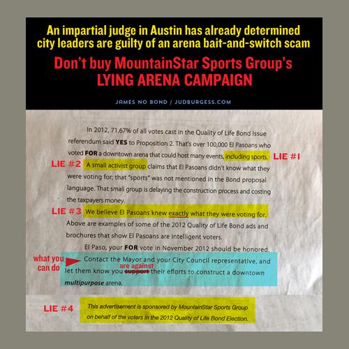 MountainStar Newspaper ad refute ©Jud Burgess