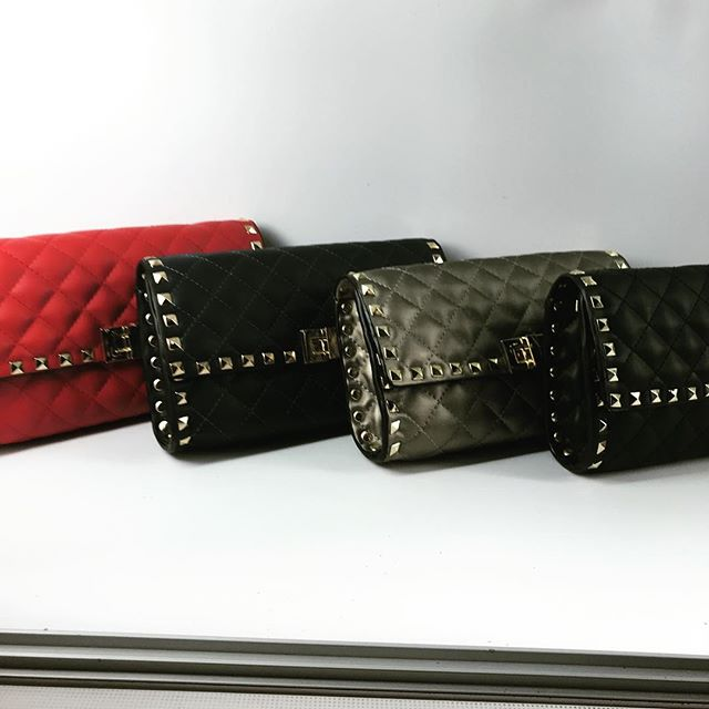 New designer inspired bags.  Black, red, navy, and pewter! $114.  Amazing!