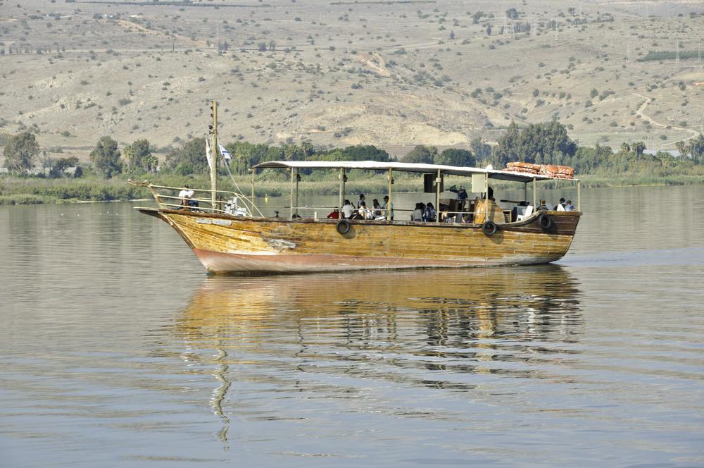 Replica Jesus Boat on Sea of Galilee