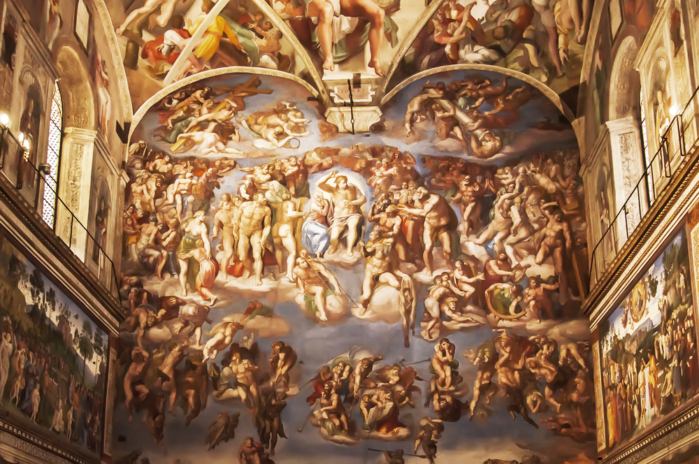 The magnificent Universla Judgement inside the Sistine Chape