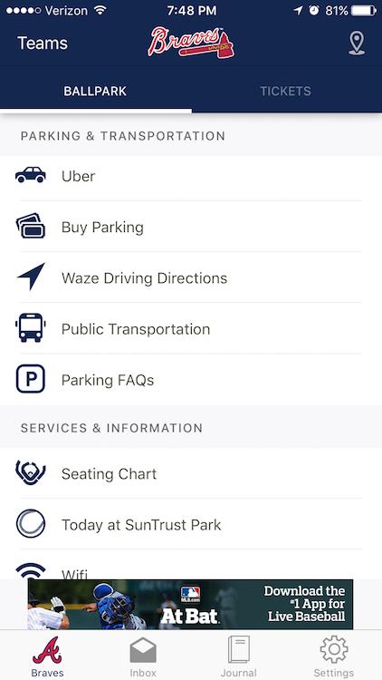 Braves Uber and Waze