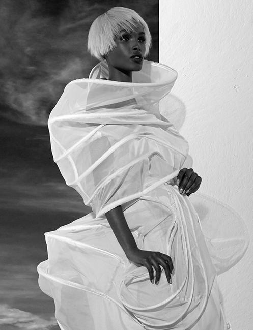 Nylon hoop dress Angel Lin