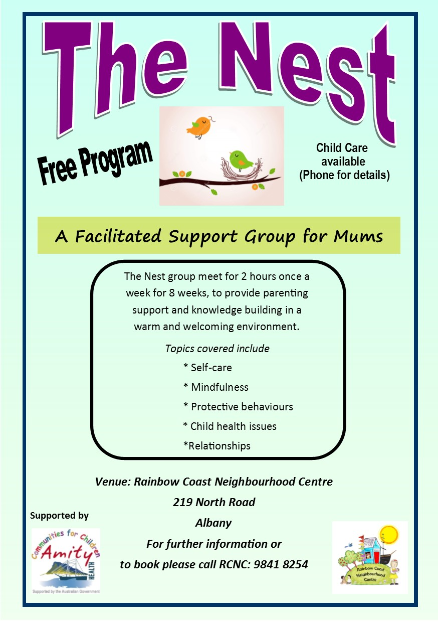 Current The Nest Flyer….call us for more information and ask for Rose.