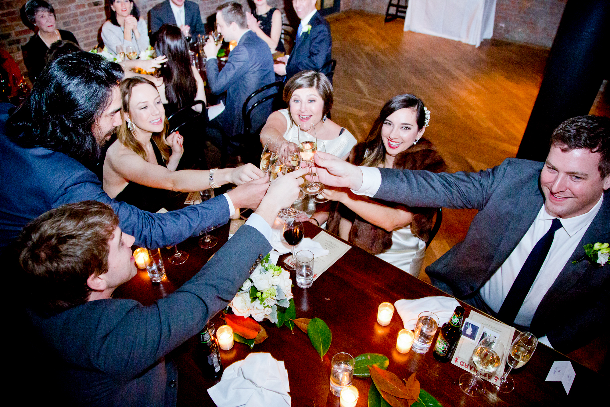 015_CarlyGaebe_SteadfastStudio_WeddingPhotography_NewYorkCity_Brooklyn_WytheHotel_Retro_Cheers_Toast_Champagne_Reception.jpg
