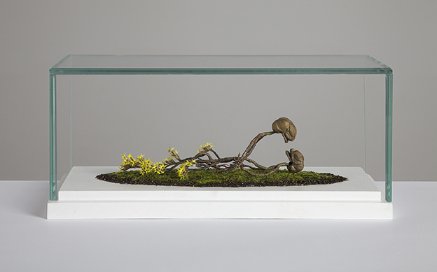 Death shall not part us II(Brass,Dried Flowers,Earth,Fibres)(24.8cm(l)x11.3cm(w)x10cm(h).jpg