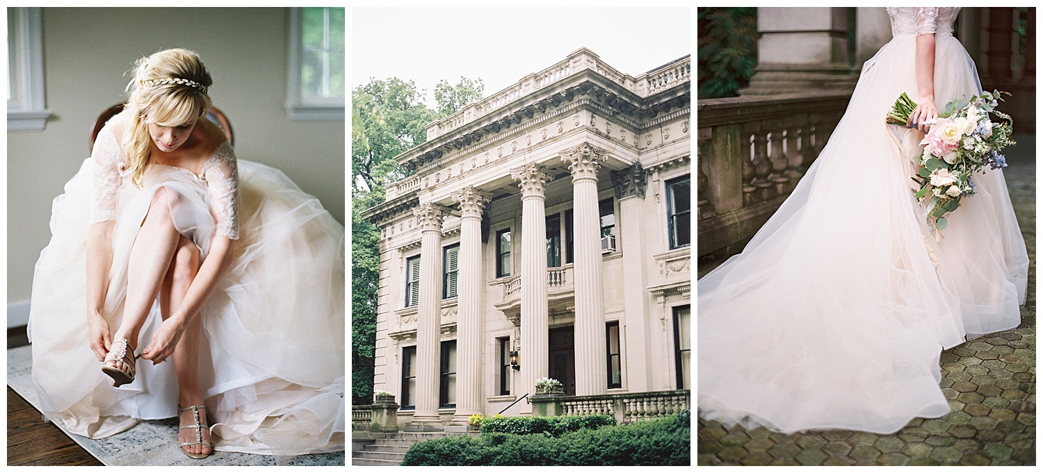 Katie's dress was so romantic and absolutely perfect for The Scott House.