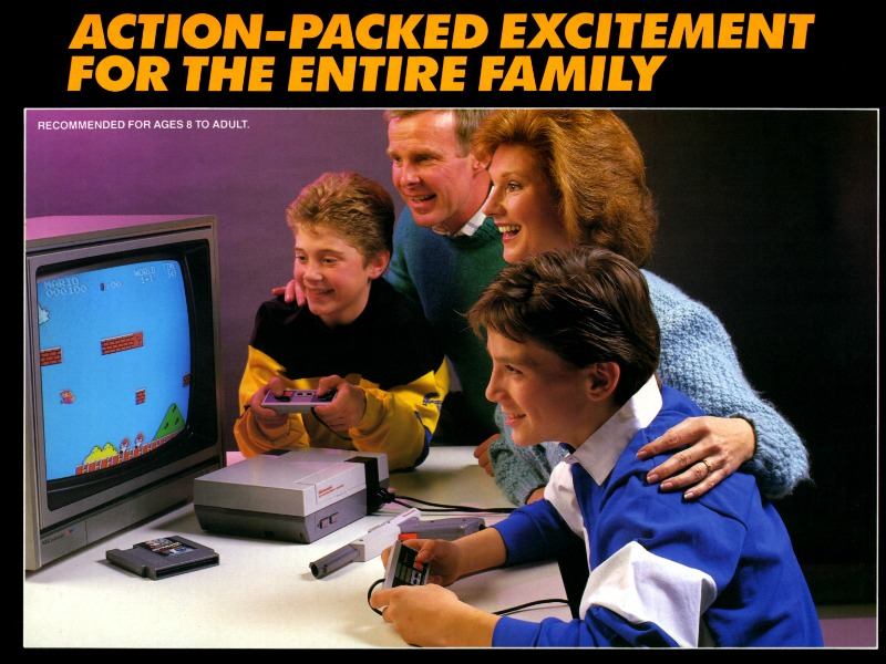 Retro Nintendo ad.