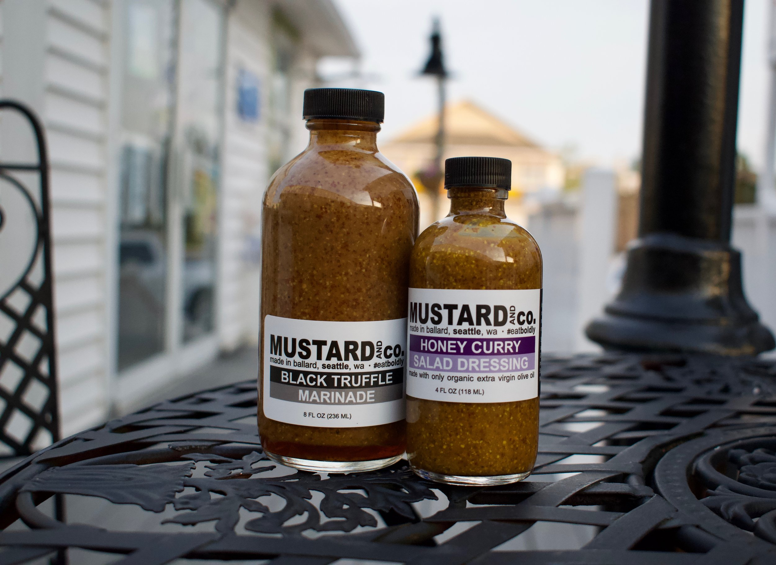 5. Black Truffle Marinade and Honey Curry salad dressing