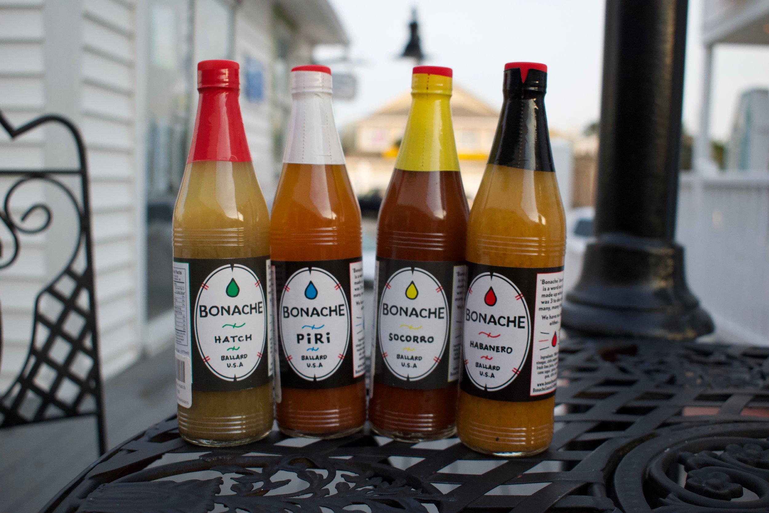 8. Bonache hot sauce in Hatch, Piri, Socorro, Habanero
