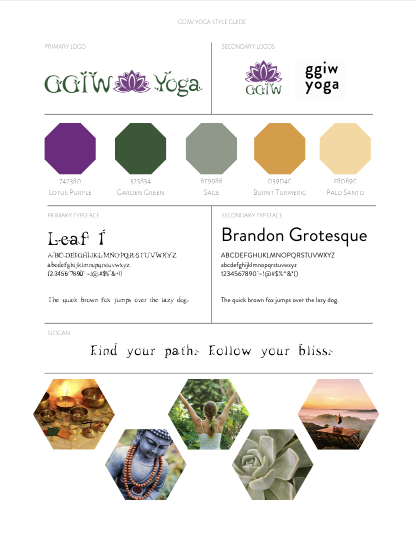 GGIW Yoga Branding + Style Guide