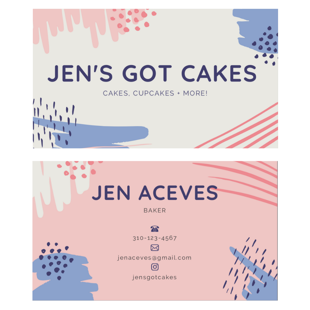 Local Baker Business Cards