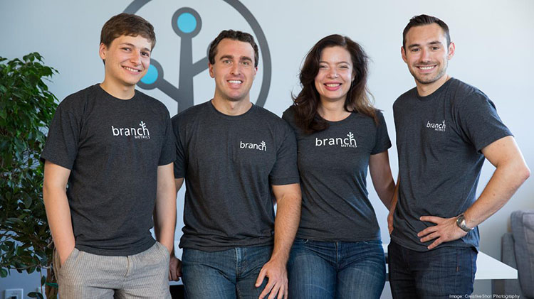 Branch co-founders Dmitri Gaskin, Alex Austin, Mada Seghete & Mike Molinet