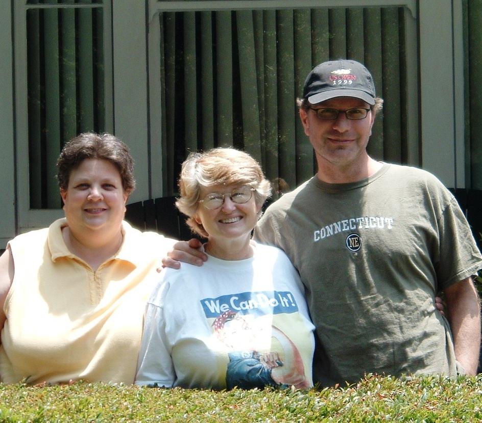 Rev. Dee Rosenberg, Nancy, and sam